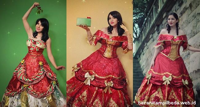 Gaun Cantik Terbuat Dari Bungkus Kado