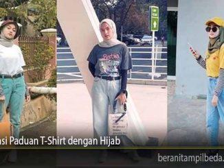Inspirasi Paduan T-Shirt dengan Hijab